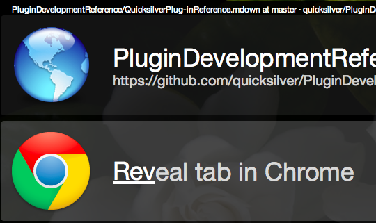 Reveal tab in Chrome